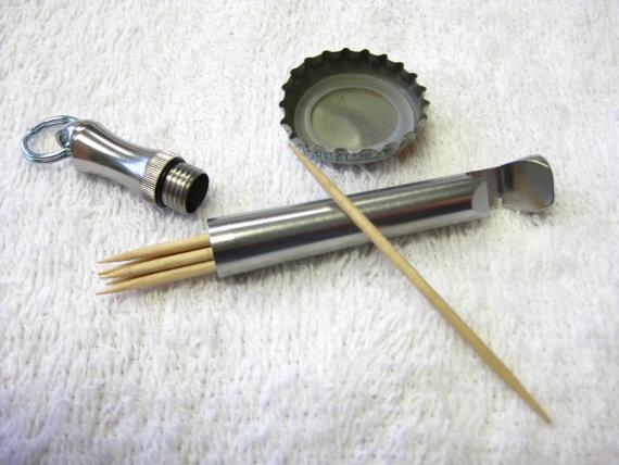 The Original JB's keychain Bottle Opener Toothpick Holder